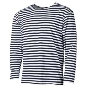 Russian Soviet Navy Telnyashka Marine Sailor Cotton T Shirt Long Sleeve, Striped