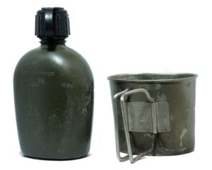 Dutch Army Surplus Canteen 1 Litre Metal Cup Pouch Webbing