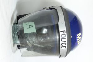 British police BLUE or BLACK riot helmets, range of sizes, security