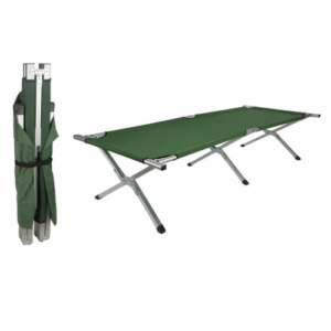 US army style folding lightweight camp cot bed aluminium w / carrying bag