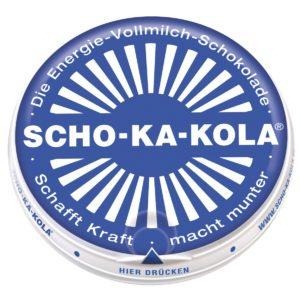 Scho-Ka-Kola Dark or Milk German Caffeine Chocolate Tin Gift WW2 Energy