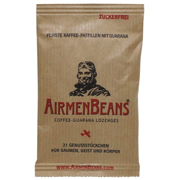 Airmen Beans Coffee Flavour Lozenge Pastilles Guarana