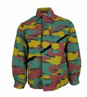 Belgian army surplus jigsaw camo lightweight ripstop field jacket