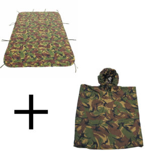 Dutch Army Surplus Durable Poncho + Poncho Liner