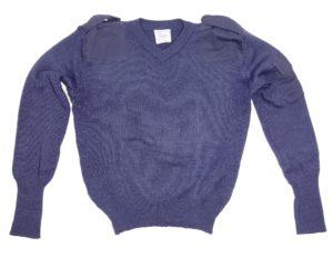 Royal Air Force RAF Surplus Blue Close Knit Wool Pullover / Jumper