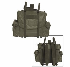 Belgian army surplus waterproof olive rucksack