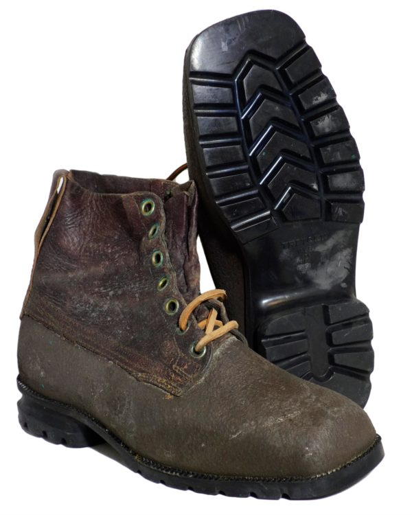 Swedish Army Surplus Brown Leather Rubber Boots