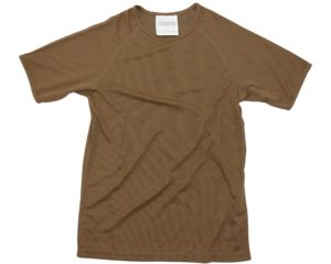 Dutch army military surplus brown polyester wicking T tee shirt